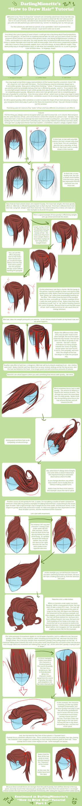 Tutorial - How To Draw Hair 1