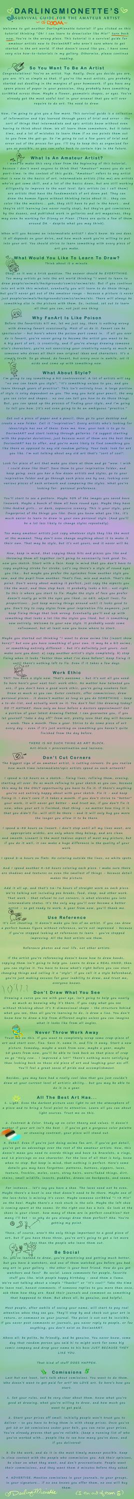 Art Survival Guide - Beginner by DarlingMionette