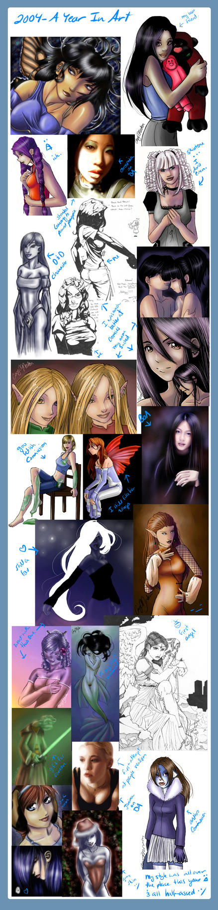 2004 - A Year In Art by DarlingMionette