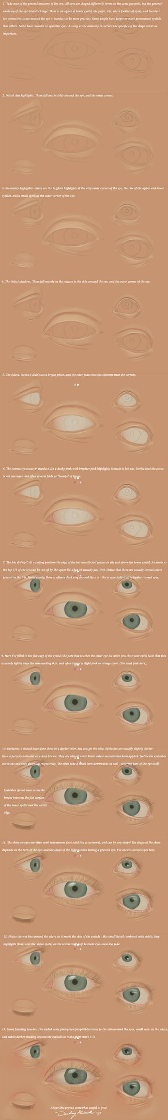 Tutorial - Painting The Human Eye by DarlingMionette