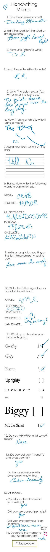 The Handwriting Meme. Teehee by DarlingMionette