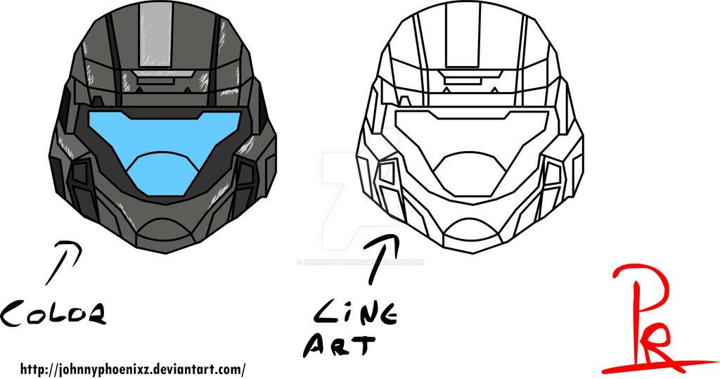 odst helmet color w line art by johnnyphoenixz on deviantart