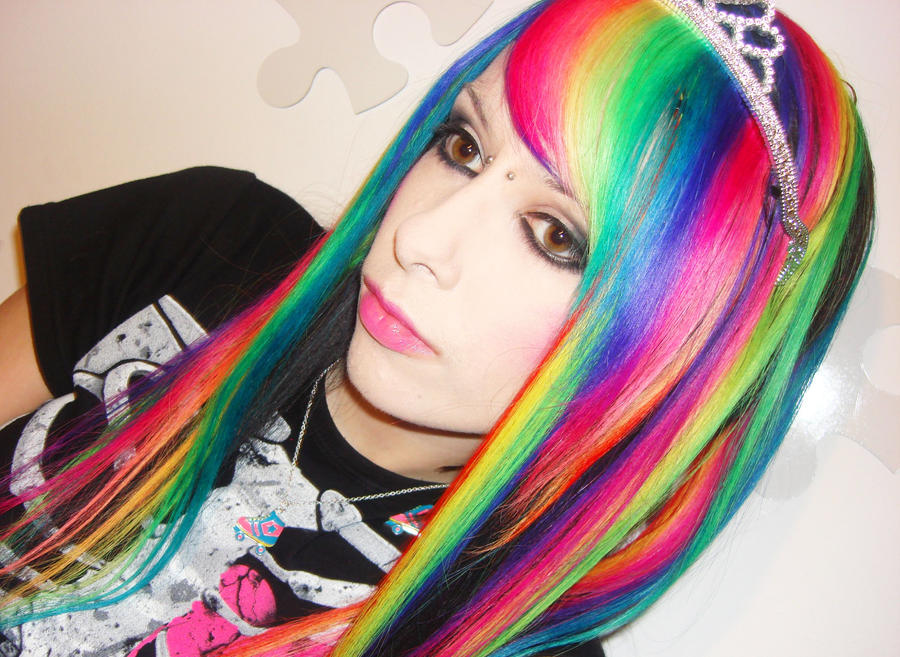 Rainbow Hair Extensions by CandyAcidHair on DeviantArt