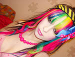Rainbow Fringe Hair