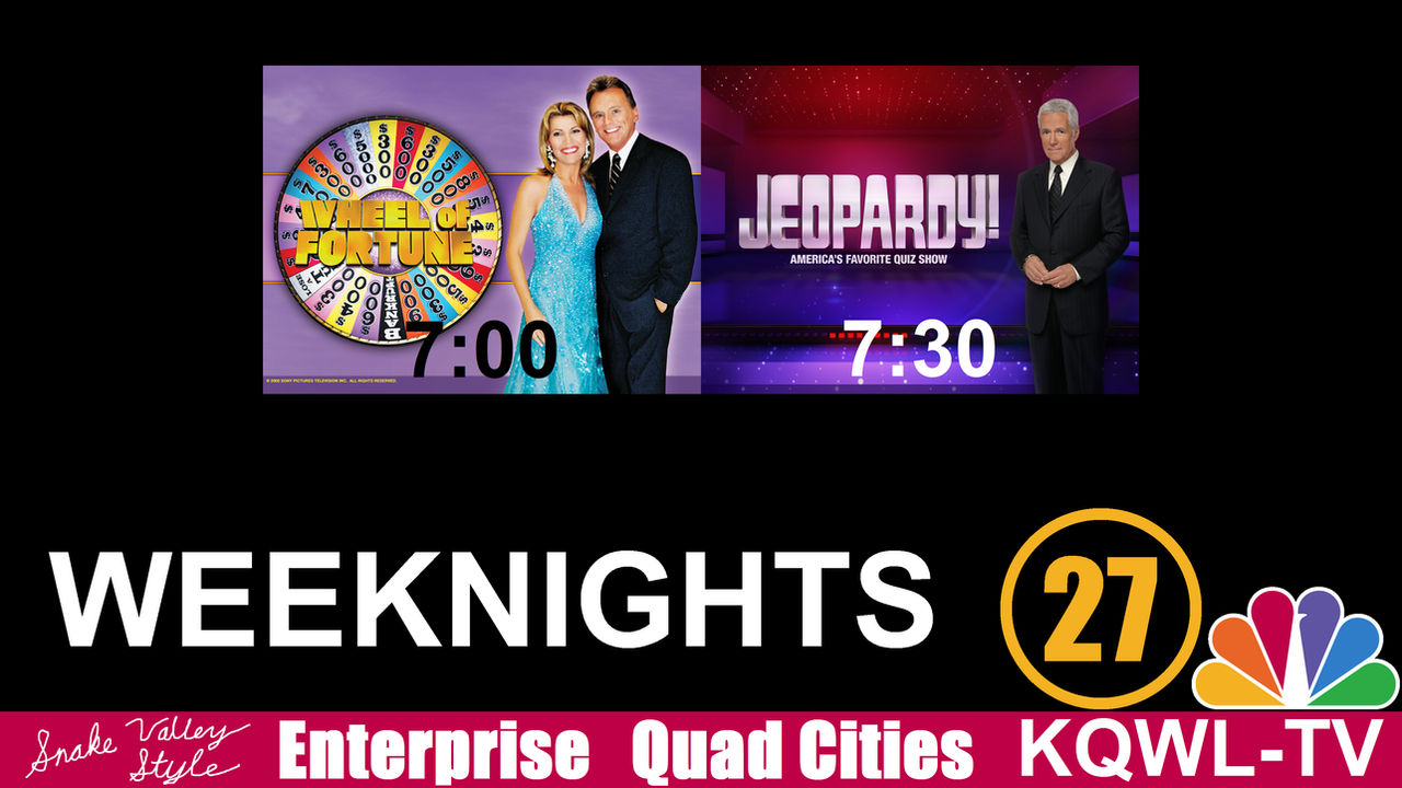 Wheel-Jeopardy Promo for KQWL-TV (Weeknights) by