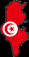 Tunisia Flag Map