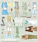 Aziragoose Paper doll by KieroYourigama