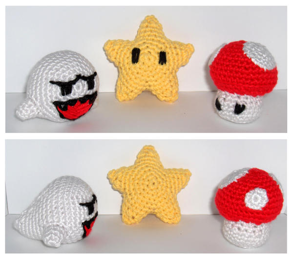 Mario Themed Amigurumi by Geisha-Neko on deviantART