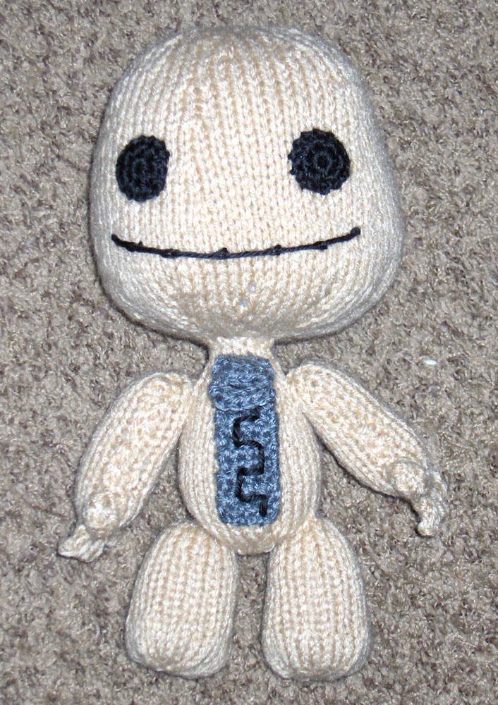 Knitted Sackboy by Geisha-Neko on DeviantArt