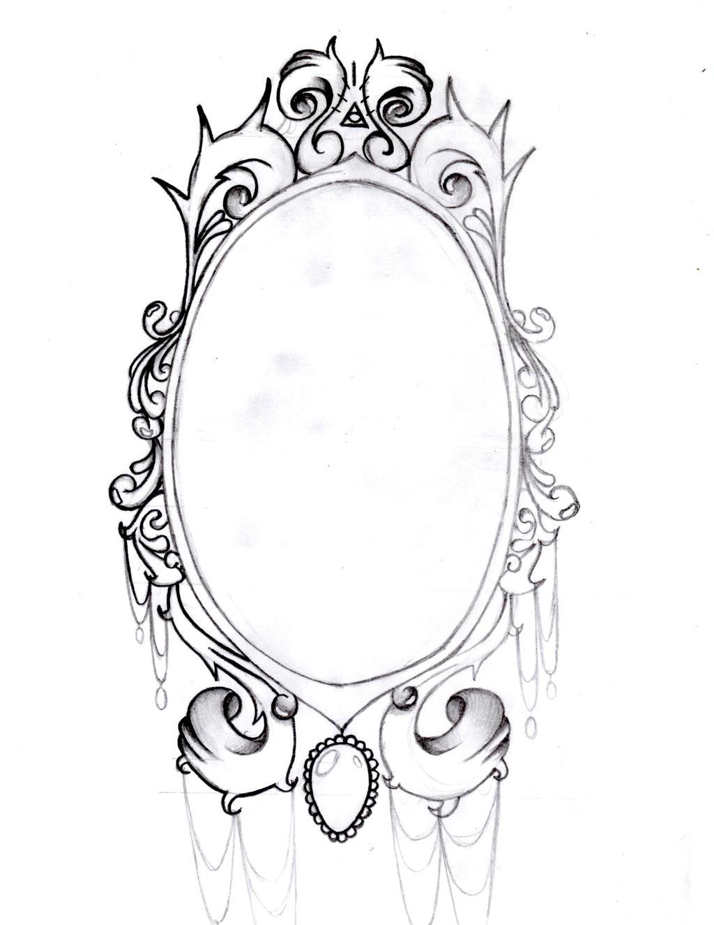Vintage Mirror frame by AimStar on DeviantArt