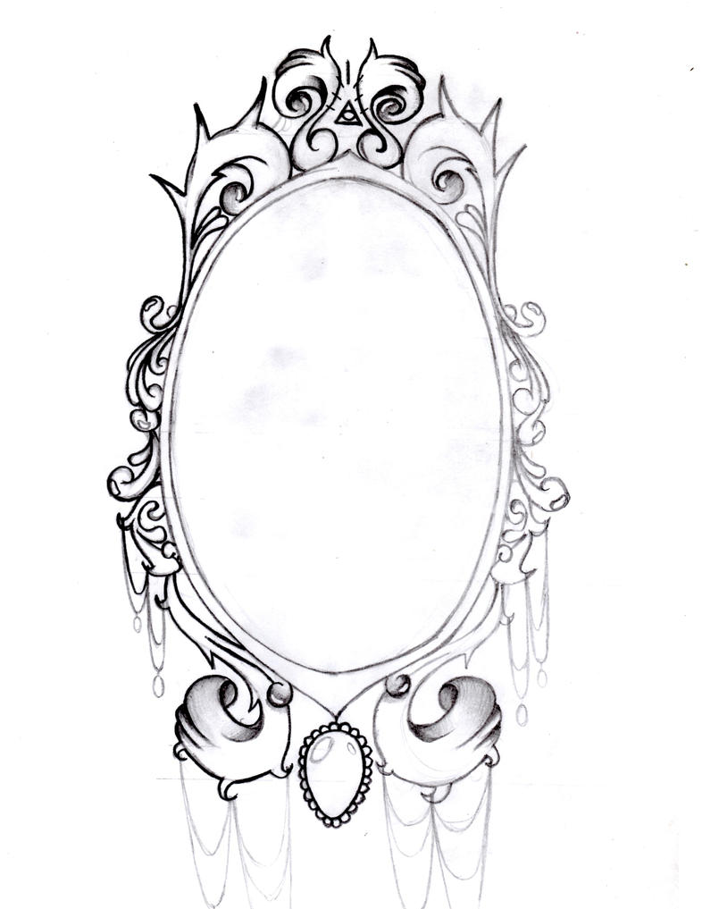Vintage Mirror frame b...