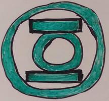 Whiteboard Shenanigans - 03) Green Lantern Emblem by CyberPFalcon