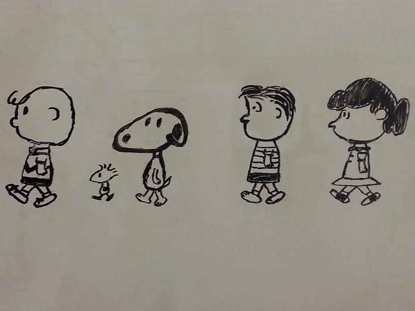 Whiteboard Shenanigans - 14) Peanuts Gang by CyberPFalcon