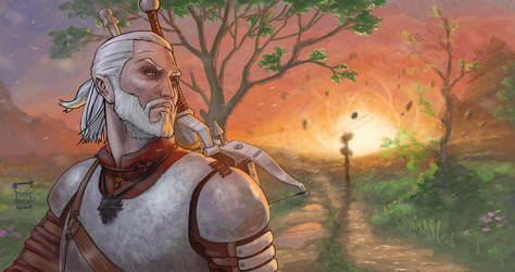 The Witcher 3 / Geralt of rivia by ameur92makhloufi