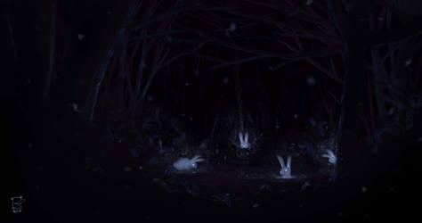 glowing rabbits by ameur92makhloufi