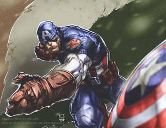 captain america by ameur92makhloufi