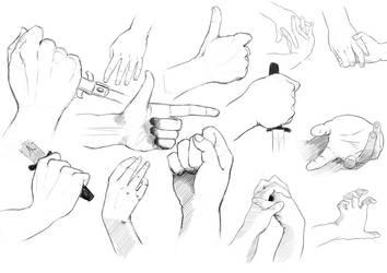 Bored hands sketch by Yelanof