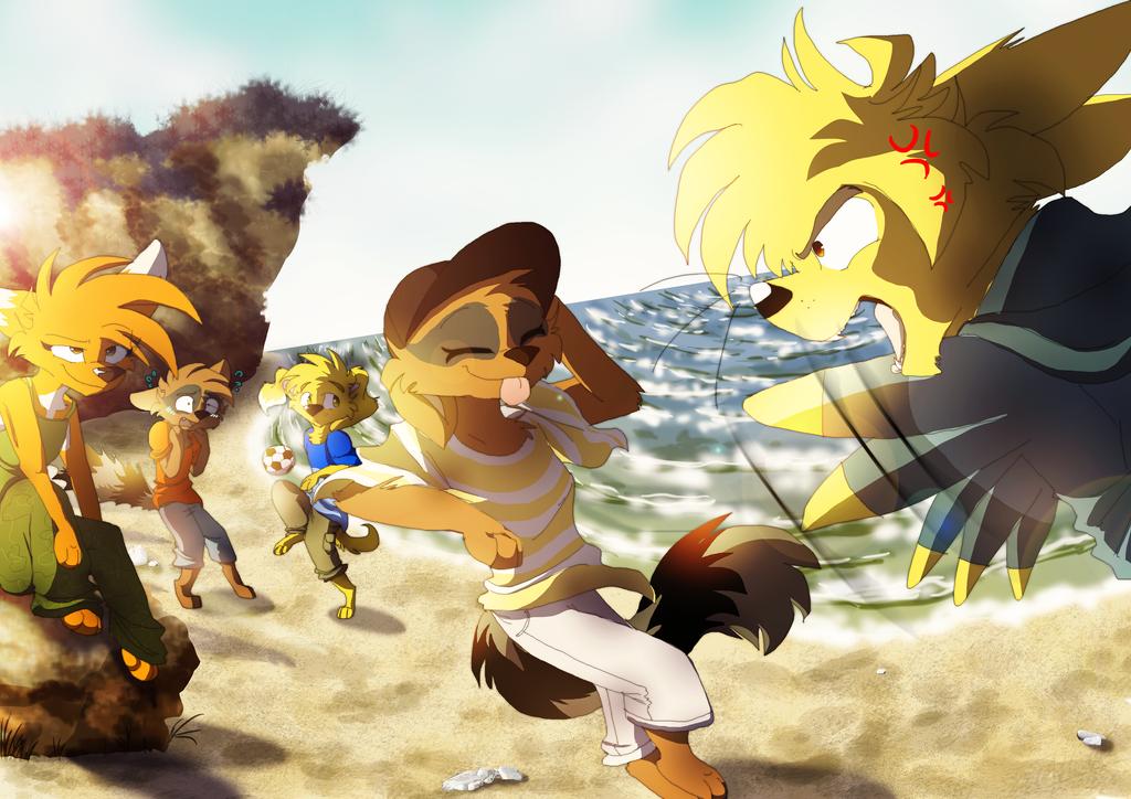 Beach Thief by DorteTorte