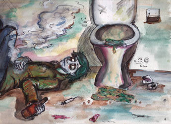 Gray and stinky toilet of life. by a-MM-e