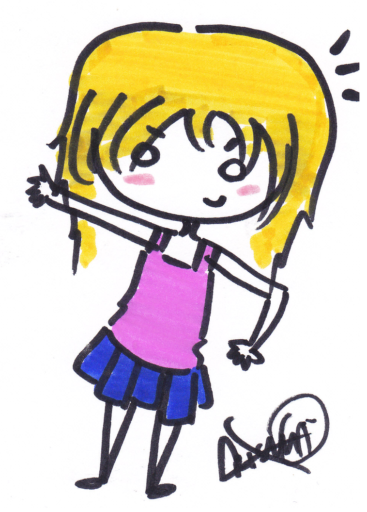 Chibi Girl Blonde Hair by Mina-Chu on DeviantArt