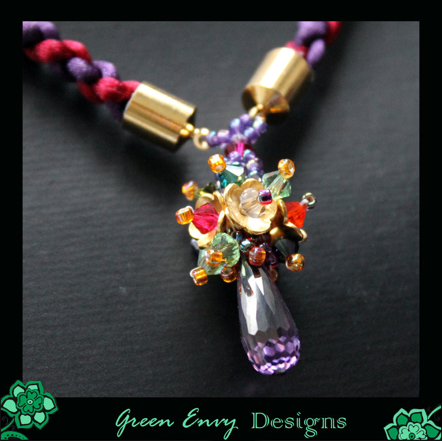 Oriel necklace close up by green-envy-designs