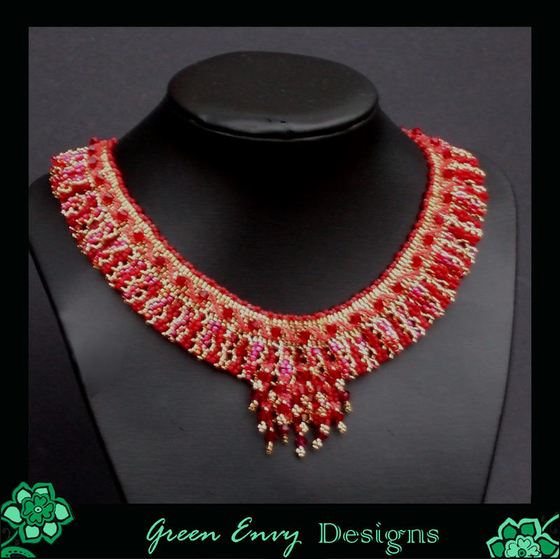 Red Brocade Collar By Green Envy Designs On Deviantart