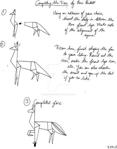Origami Fox Diagram