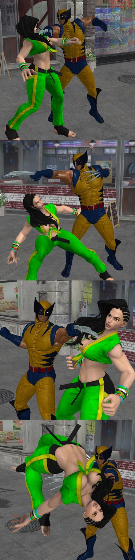 Laura Vs Wolverine by roodedude