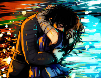 Reylo HUG - Star Wars by Skydrathik