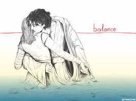Rey and Kylo Ren - balance