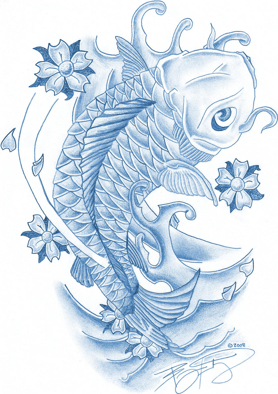 Blue koi fish by bkutej on deviantart for Blue coy fish