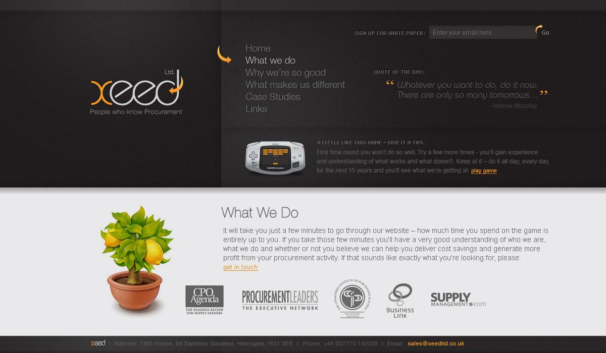 Xeed - Web Layout
