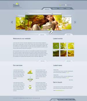 Sleek Design - Web 2.0 Layout