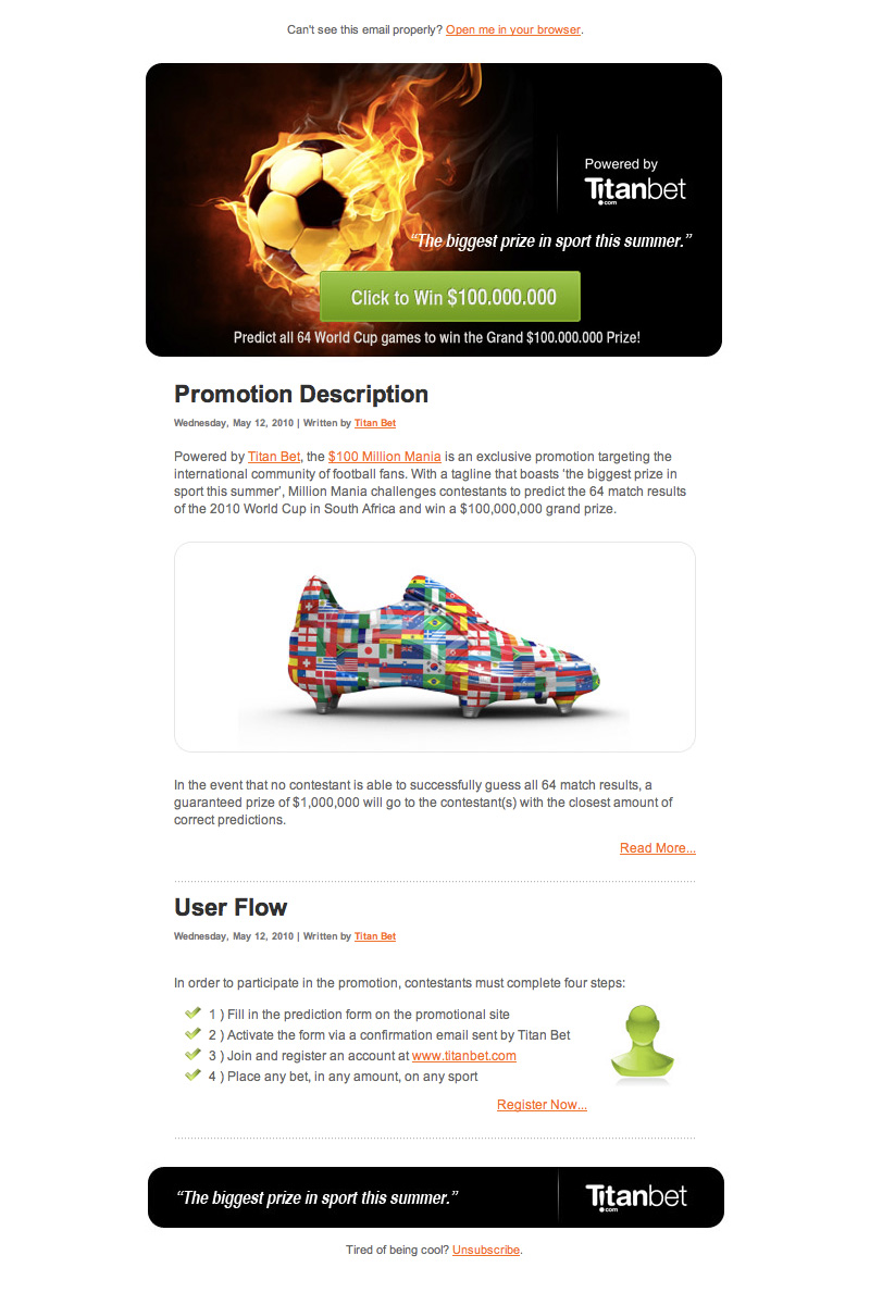 Newsletter Layout - Promotion