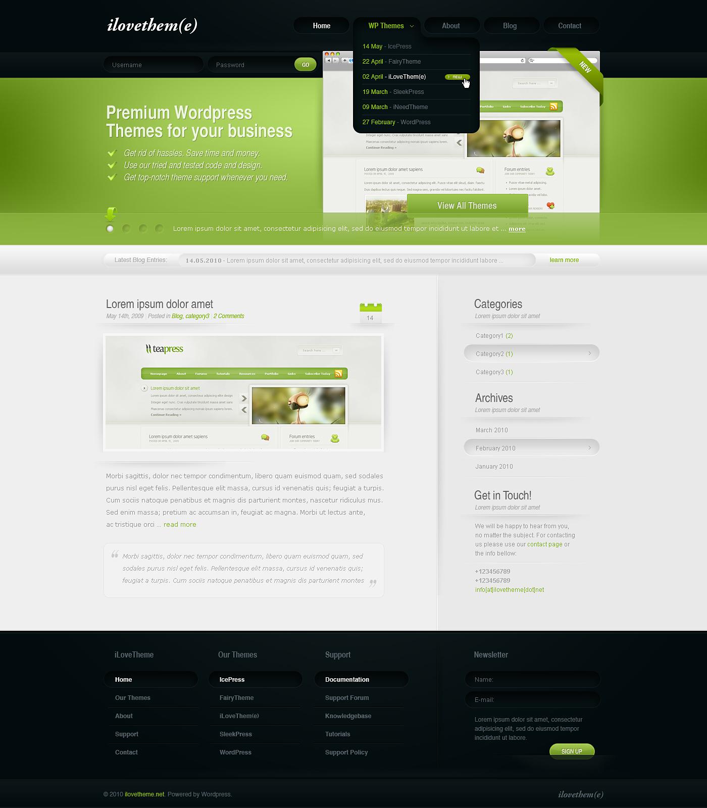 iLoveTheme - WordPress Theme by detrans