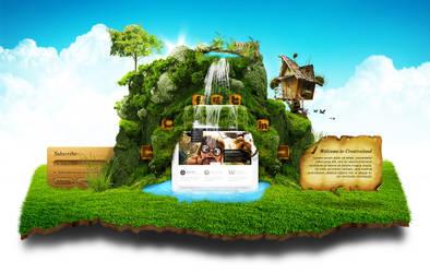 Creativeland - Web Layout