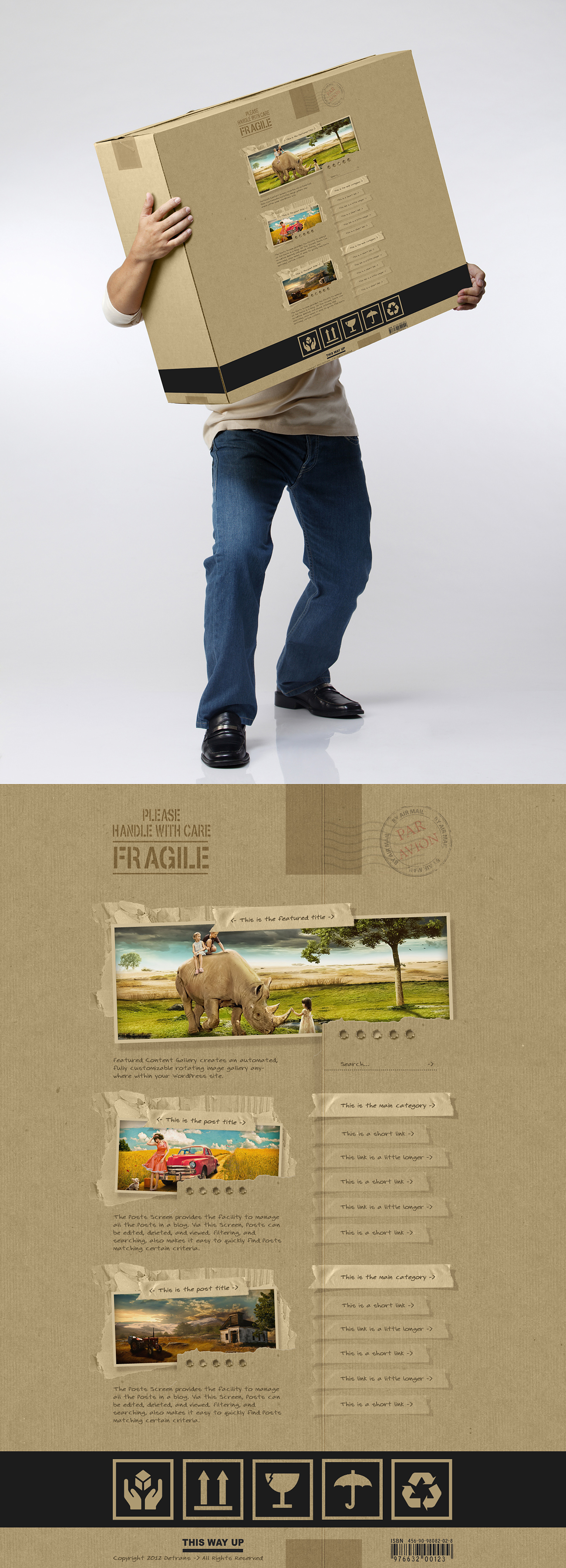 Fragile - WordPress Theme by detrans