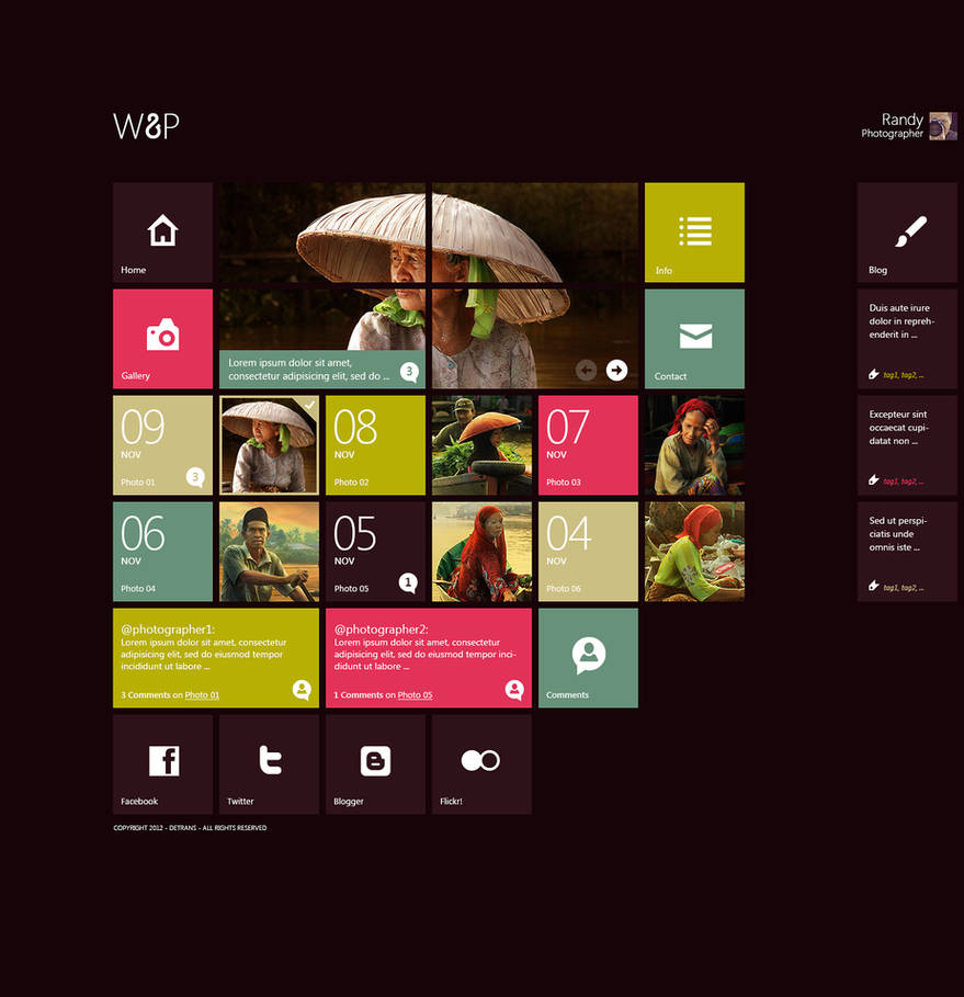 W8P - WordPress Theme by detrans