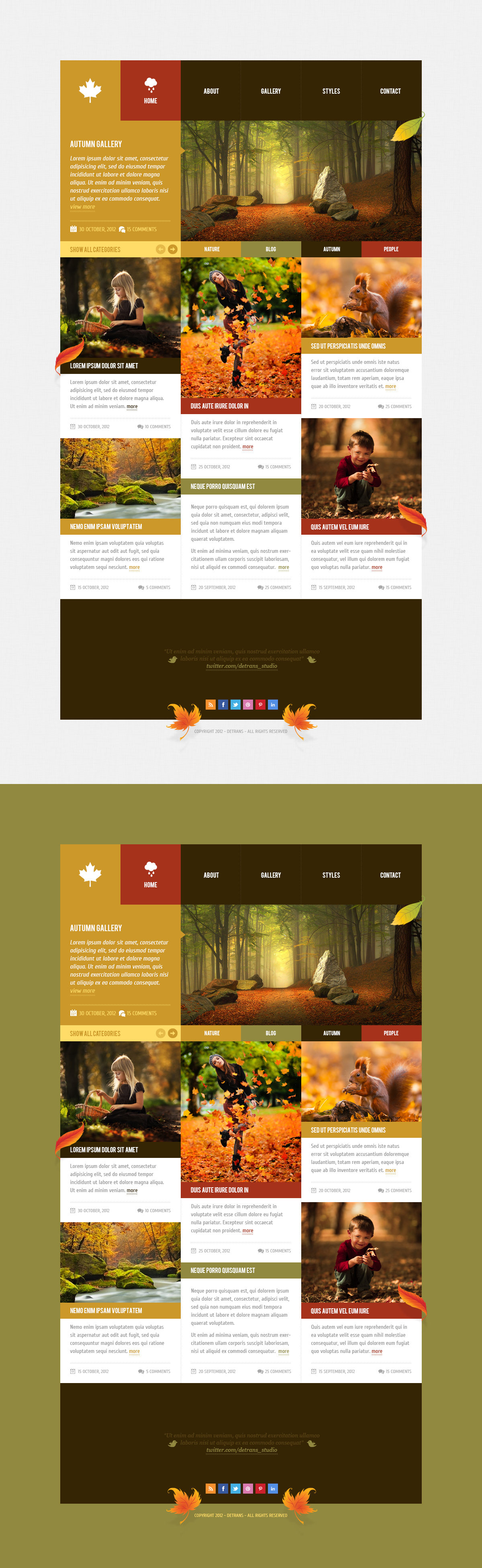 Autumn - WordPress Theme by detrans