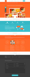 Teal and Orange - Web Layout by detrans