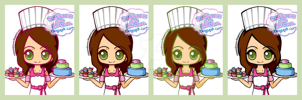 Chibi cook  COLOURS by Lucia-95RduS