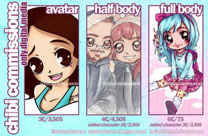 INFO DIGITAL COMMISSIONS~CHIBI  [ENG/SPA] by Lucia-95RduS