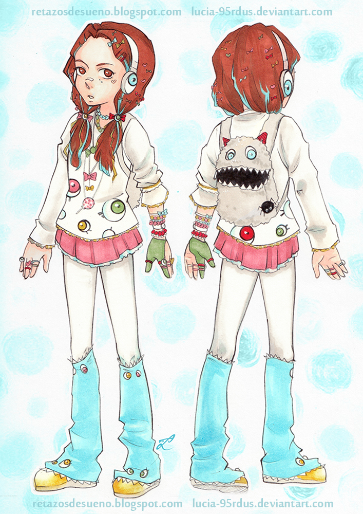 Character Design Oc : Character design decora girl oc by lucia rdus on