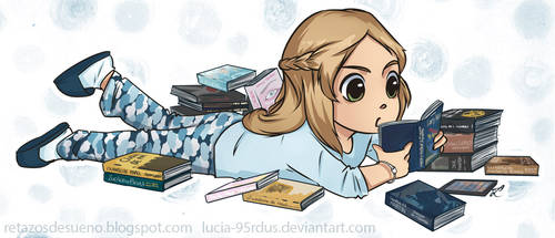 Little reader   Commission by Lucia-95RduS