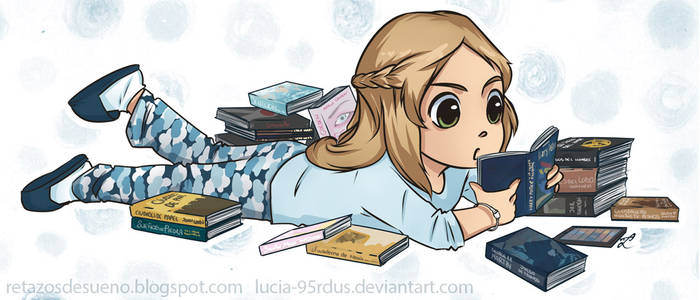 Little reader | Commission by Lucia-95RduS