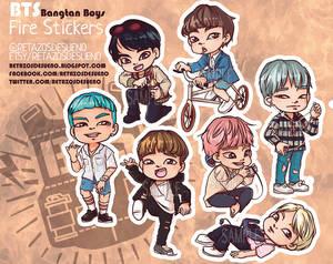 BTS | Bangtan Boys | Butterfly FIRE | STICKERS