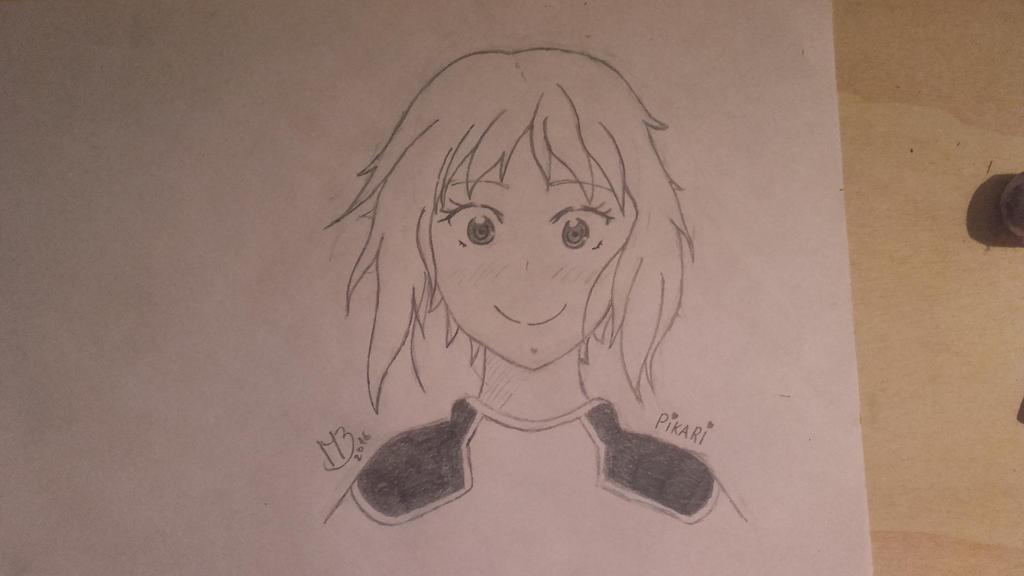 Sketch: Pikari [Amanchu] by QueenArturia