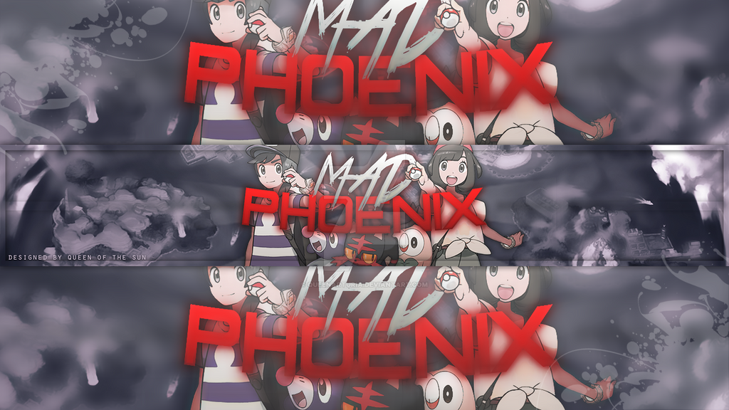 Youtube banner - Pokemon Sun and Moon by QueenArturia