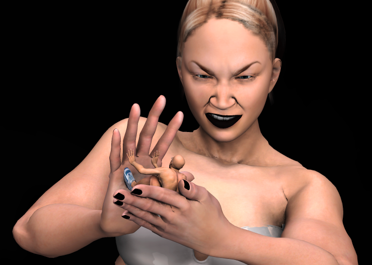 giantess hand