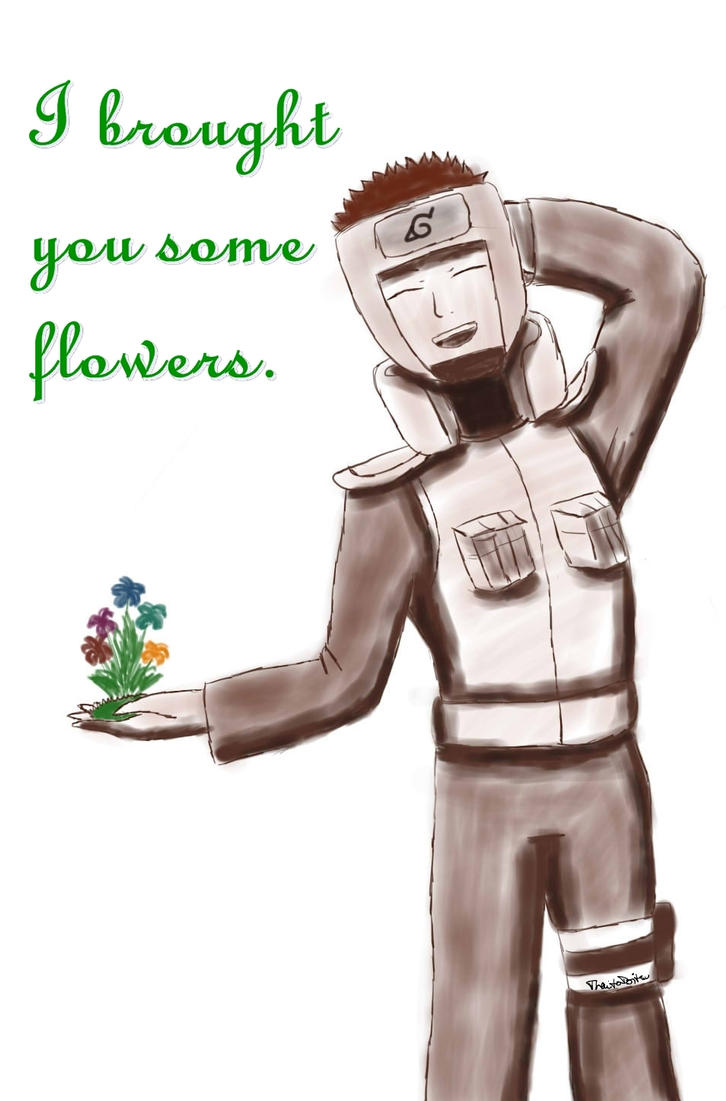 Naruto - Yamato - I brought you some flowers by ThaitoDoitsu